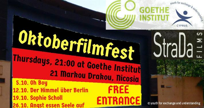 """Oktoberfilmfest"" at the Goethe-Institut Cyprus"