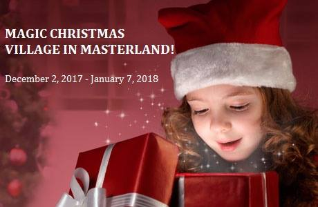 Opening of Magic Christmas Village in Masterland