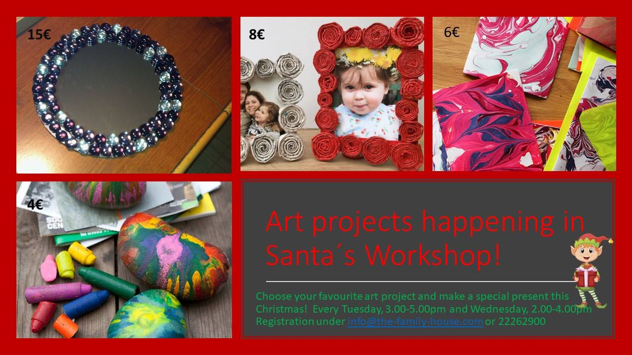 Santa´s crafty Workshop for kids 3+