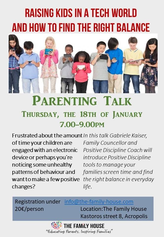 Parent Talk- raising kids in a tech world