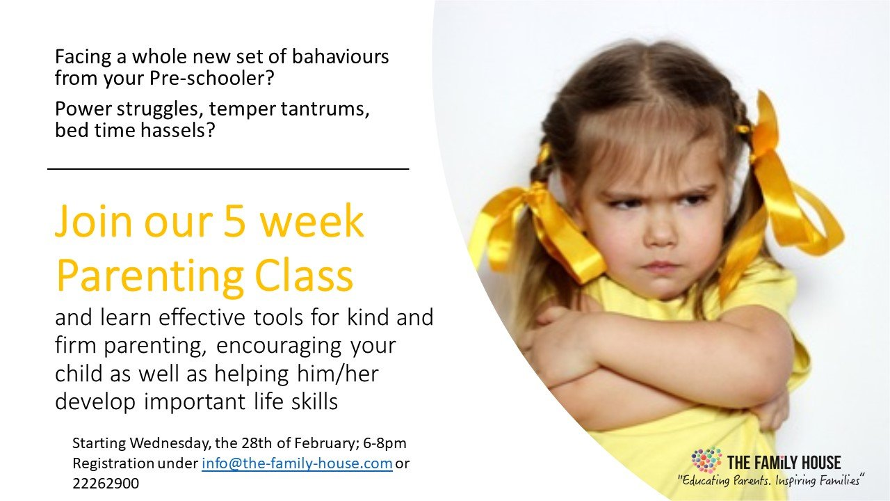 Join our 5 week Parenting Class at the Family House!