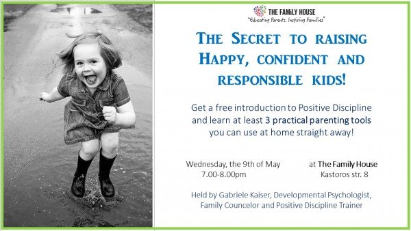 Free Parenting Talk! The secret to raising happy, confident and responsible kids