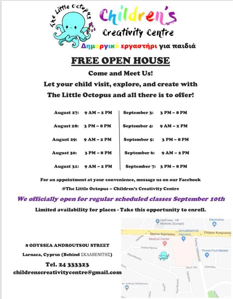 The Little Octopus Children's Creativity Centre Free Open House!