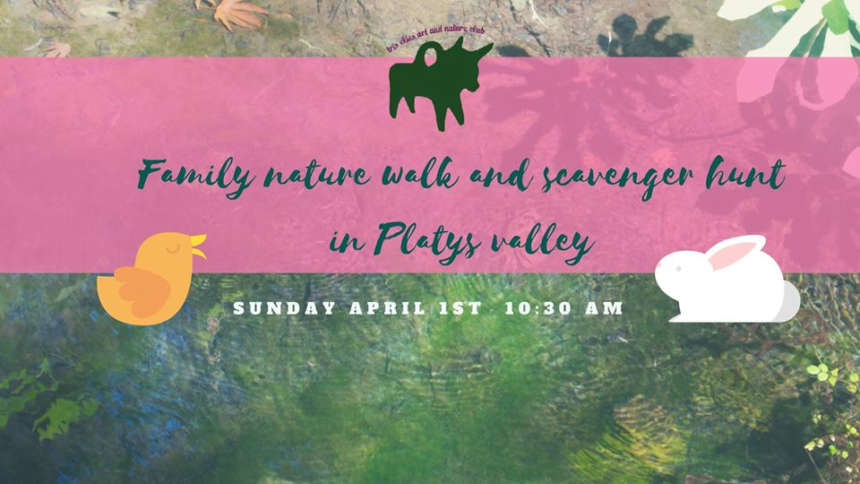 Family Nature Walk and Spring Treasure Hunt in Platys Valley