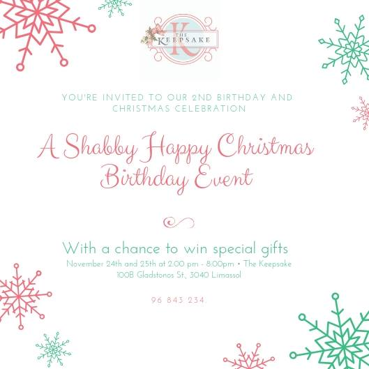 Shabby Happy Christmas Birthday Event