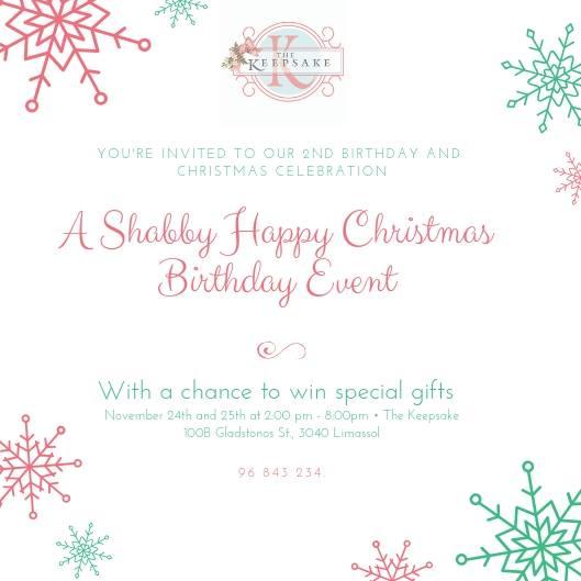 Shabby Happy Christmas Birthday Event