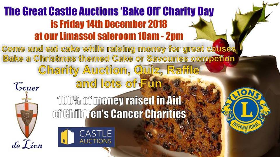 The Great Castle Auctions Bake Off Charity Day
