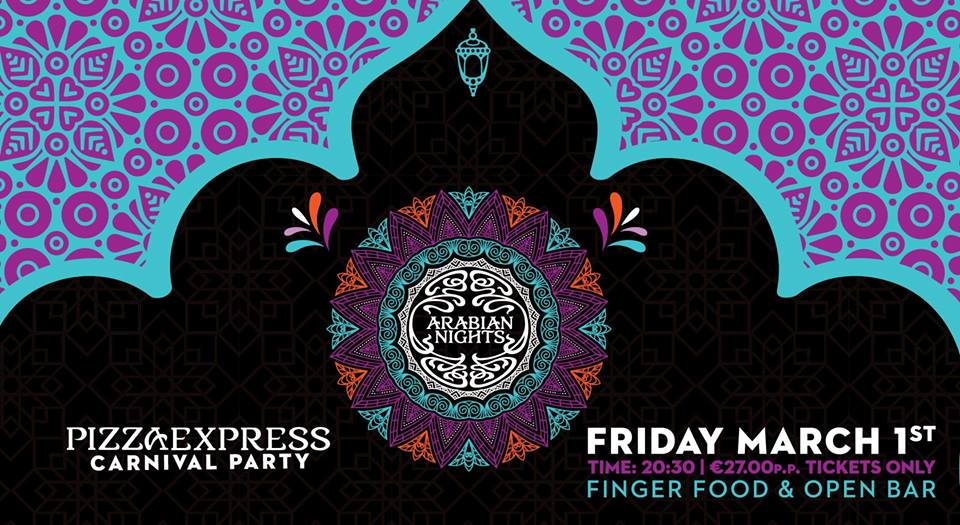 Carnival Party at Pizza Express Limassol
