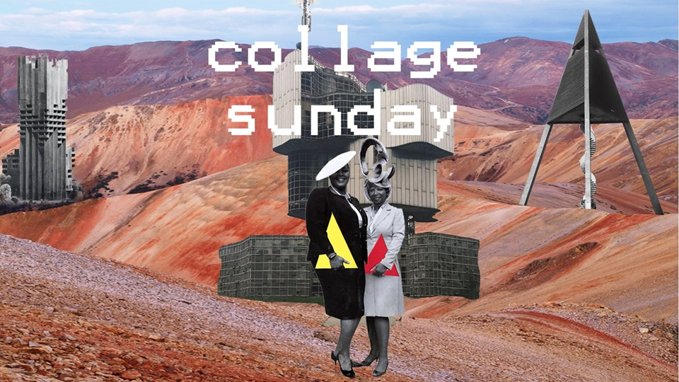 Collage & Chill Sunday: Music, Food, Cut + Paste