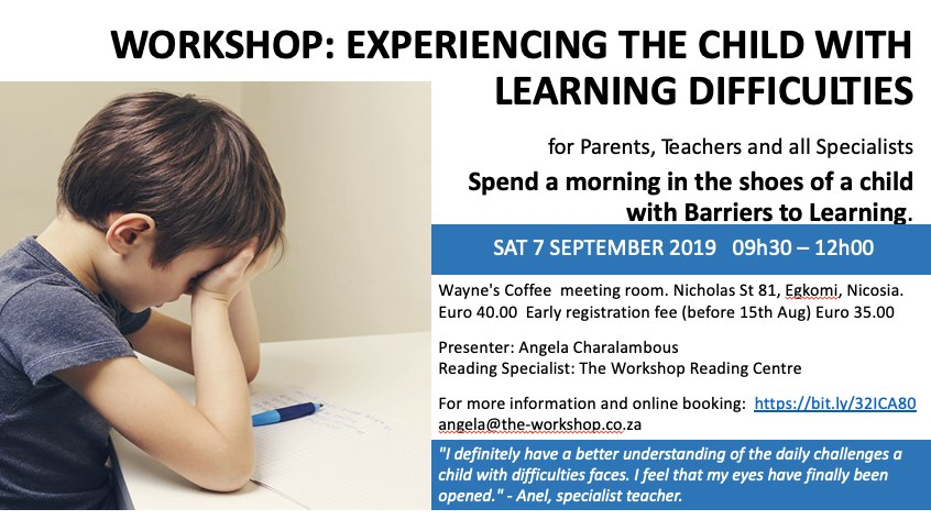 Workshop: Experiencing the Child with Learning Difficulties
