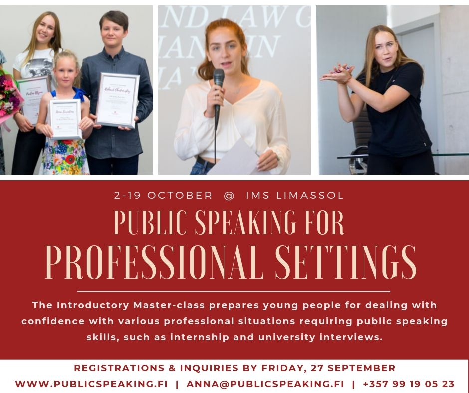 Public Speaking PRO: master-class for children and youth